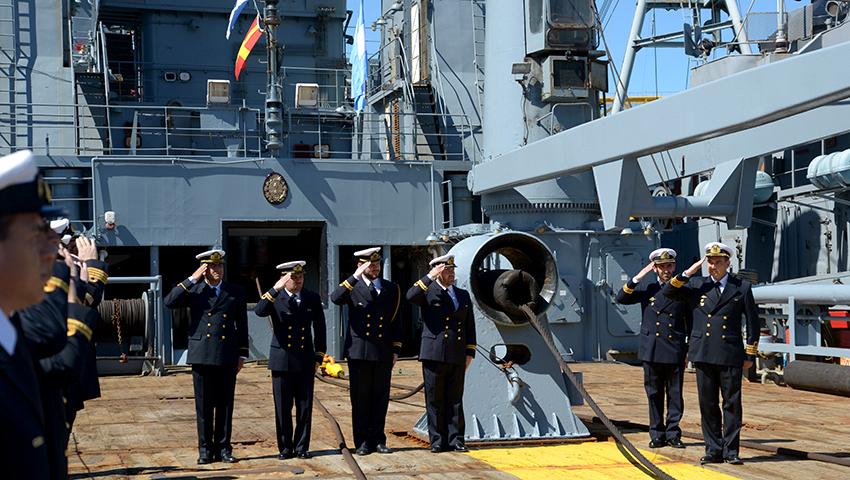 Ceremonia en Puerto Belgrano