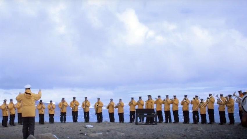 Resultado de imagen de Banda Militar Conjunta en Marambio