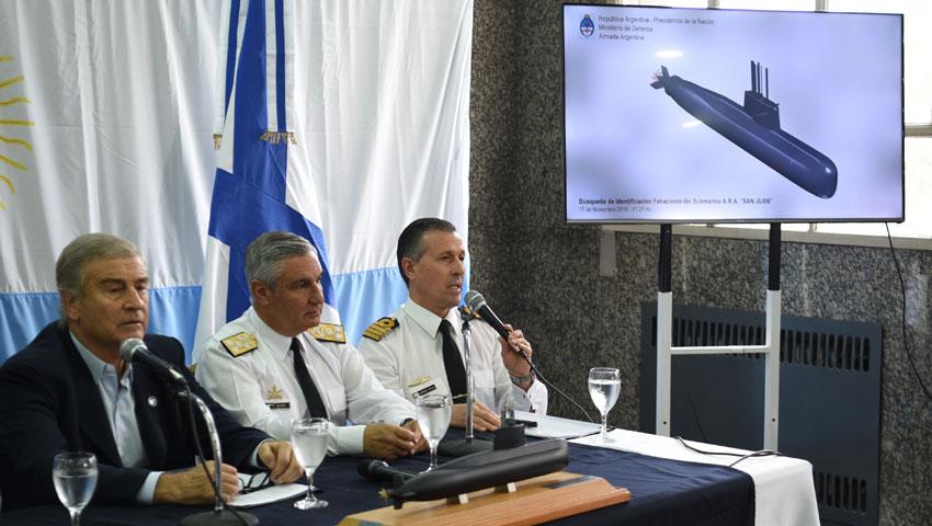 """Informaron acerca de la identificación fehaciente del submarino ARA """"San Juan"""""""